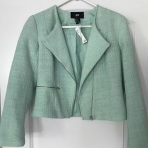 H&M tweed blazer jacket new with tags size 6